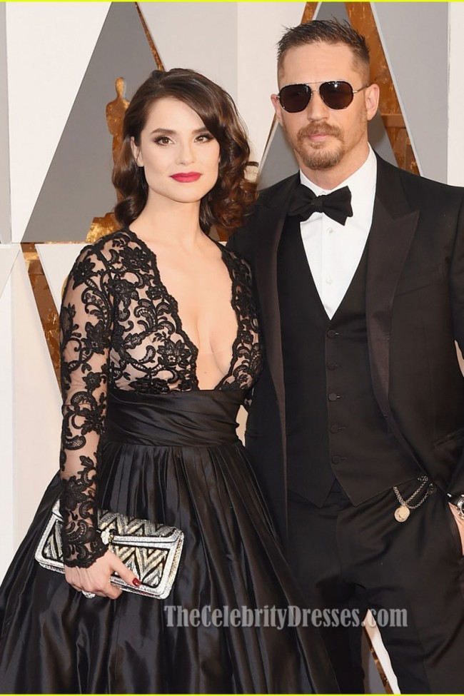 Charlotte Riley Sexy Black Evening Prom Gown Red Carpet