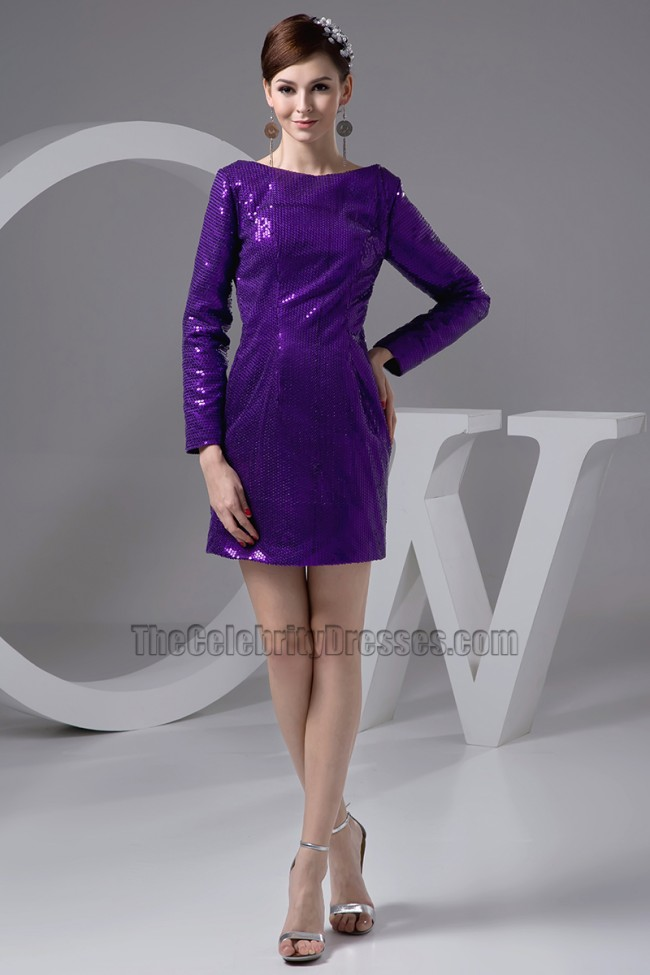 Chic Long Sleeve Regency Sequins Party Graduation Dresses ...