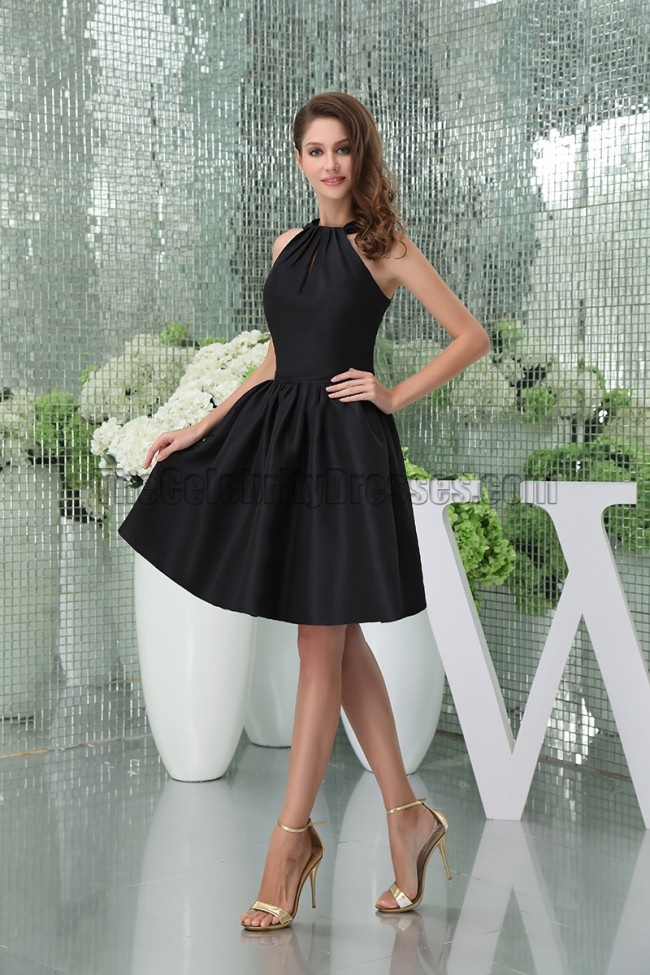 Chic Short Black A Line Party Graduation Little Black Dresses