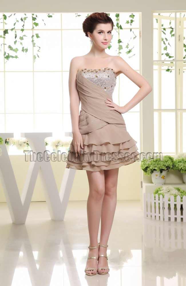 Cute Mini Party Dress Short Homecoming Dresses With Beading - TheCelebrityDresses