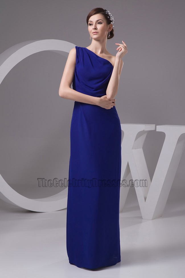 651895360a3 Dark Royal Blue One Shoulder Bridesmaid Dresses Prom Gown ...