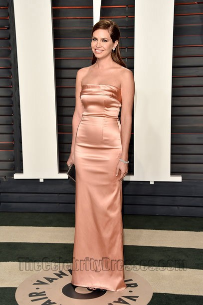 Dasha Zhukova 2016 Vanity Fair Oscar Party Strapless Dress Red ...