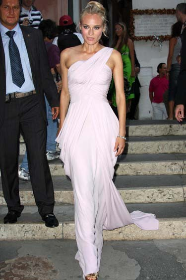 9f7bf39d2e0 Diane Kruger One Shoulder Prom Dress 65th Venice Film Festival Dresses