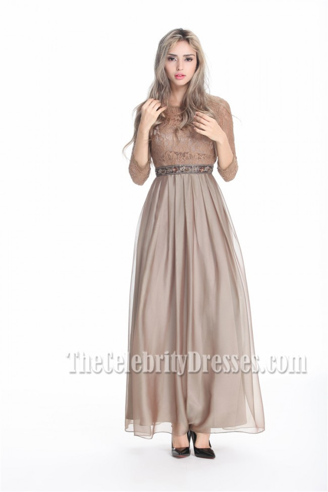 Discount Floor Length Brown Prom Dress Evening Gowns
