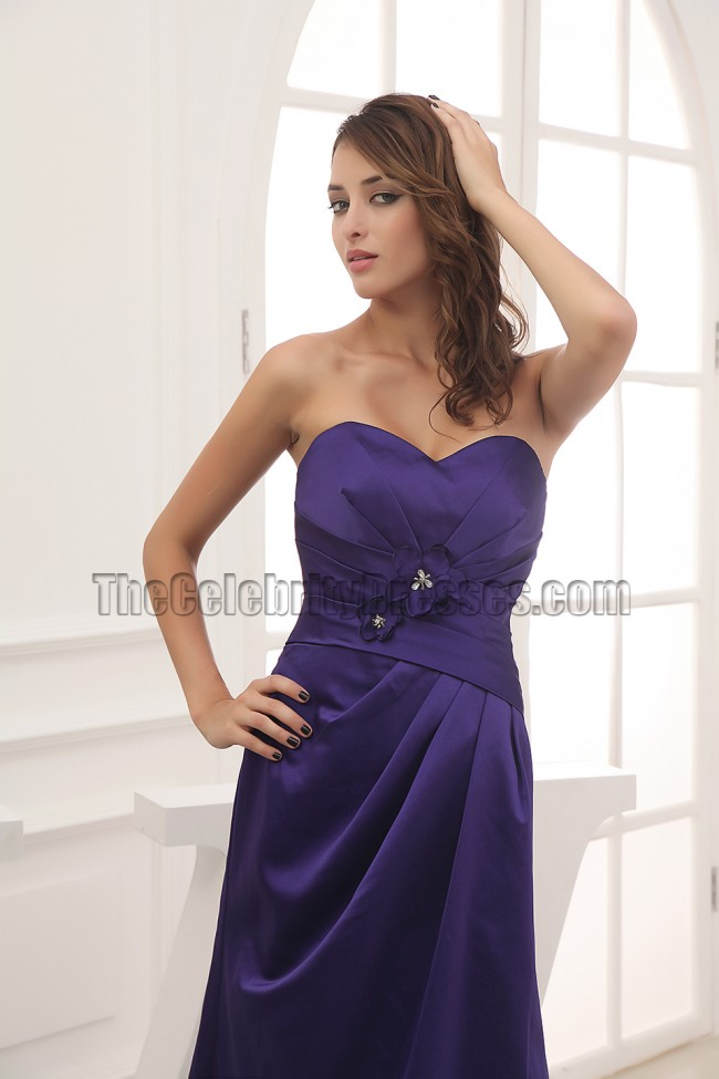Discount Strapless Sweetheart Prom Gown Bridesmaid Dresses ...