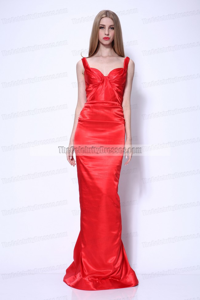 Dita Von Teese Red Carpet Red Prom Gown Formal Evening
