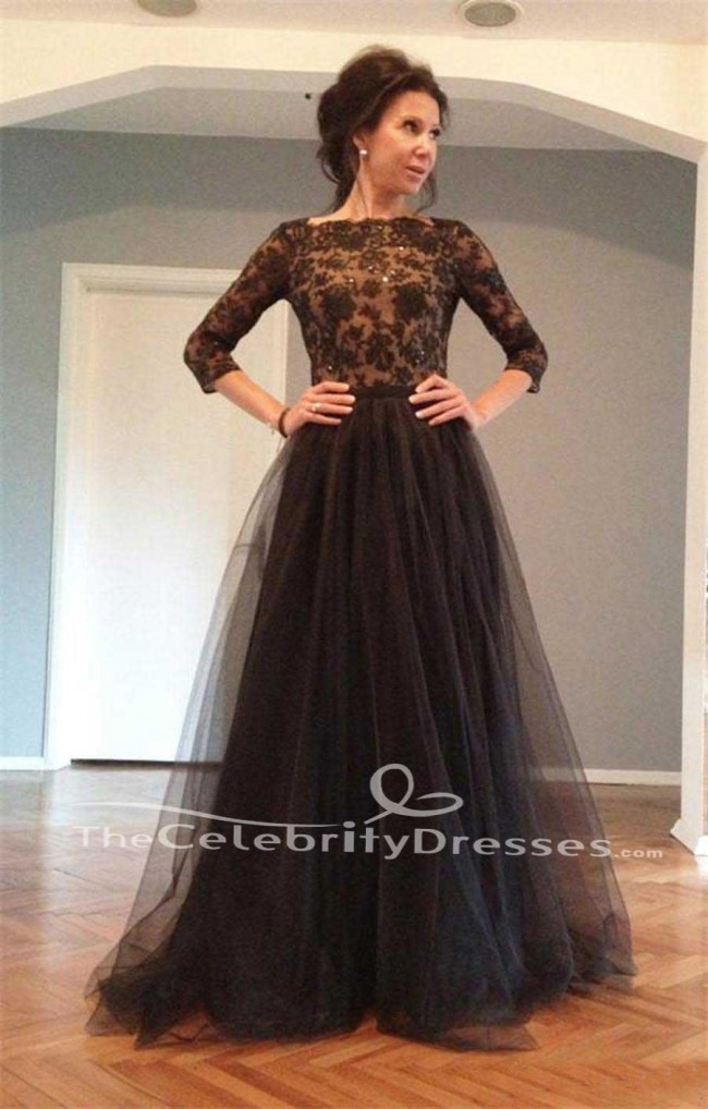 Full Length Tulle A Line Backless Evening Formal Dresses Prom Gown