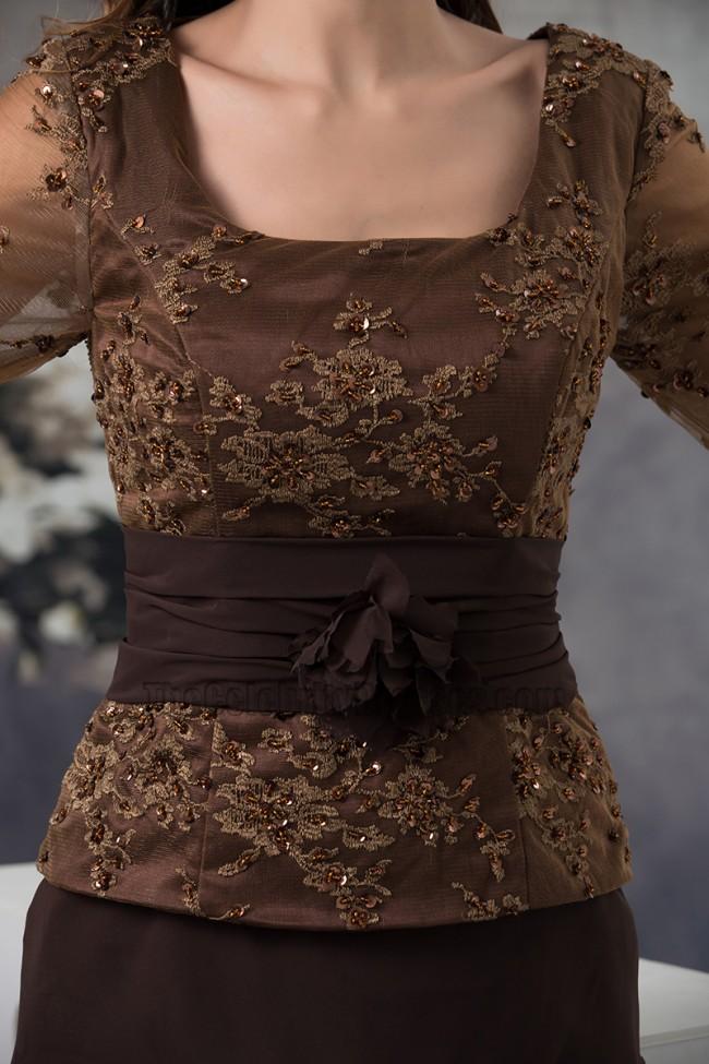 Elegant Brown Formal Gown Mother Of Bride Dresses