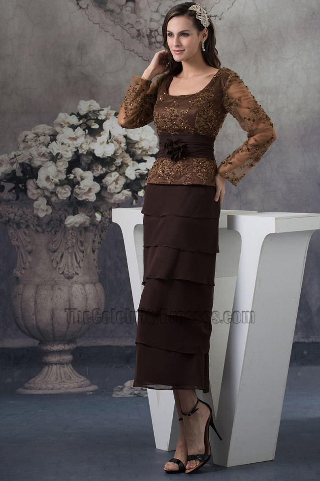 chocolate brown mother of the bride dresses