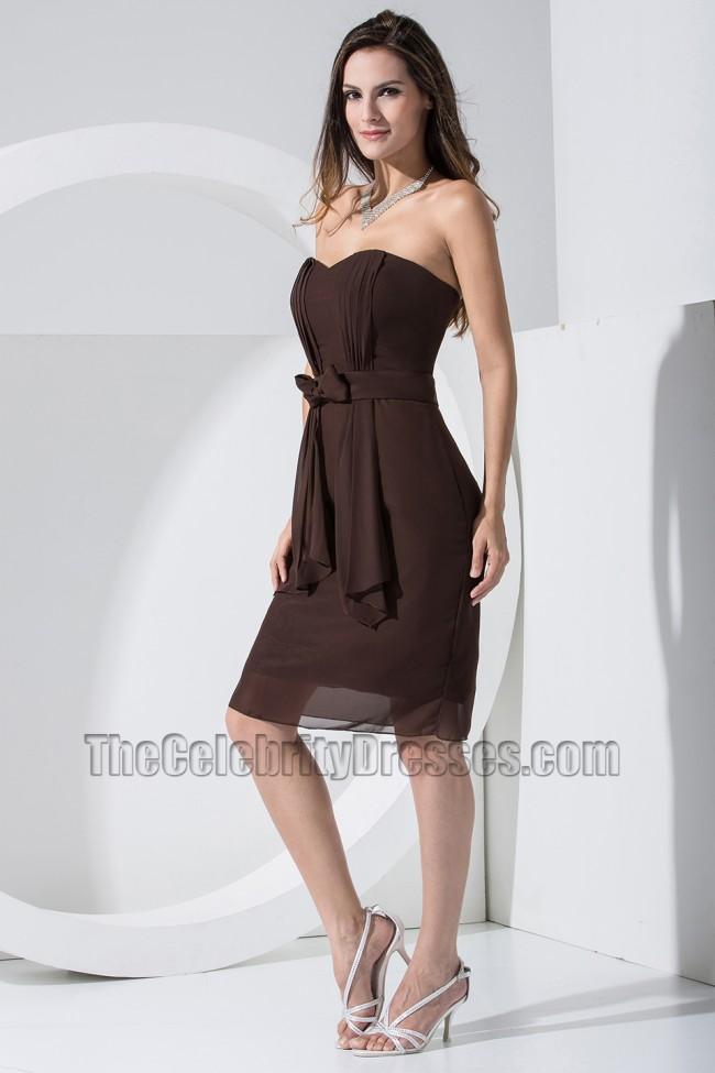 Chocolate Chiffon Bridesmaid Dresses