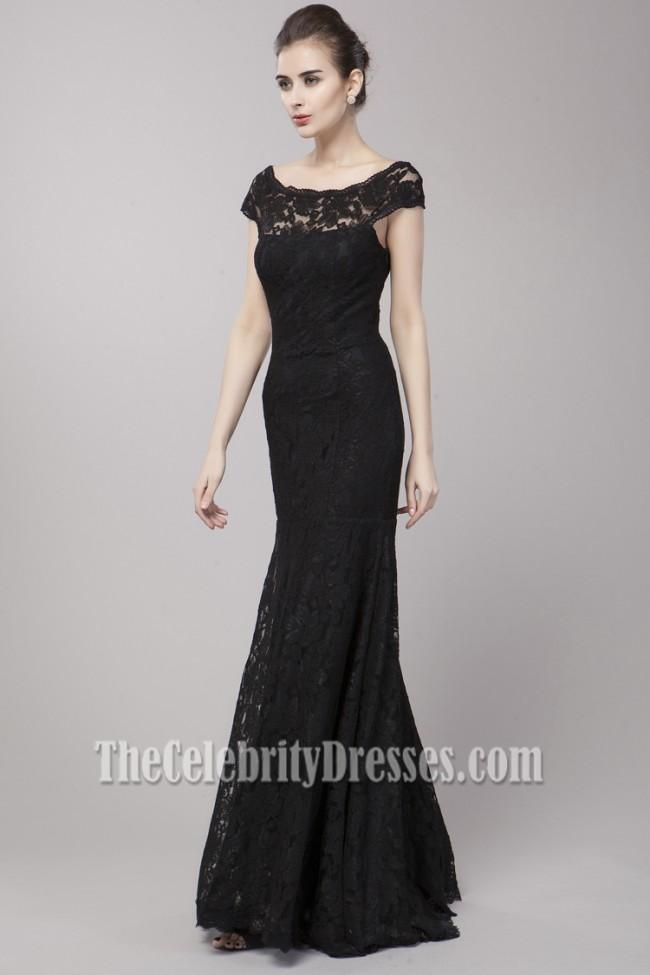 Off the Shoulder Black Evening Dress
