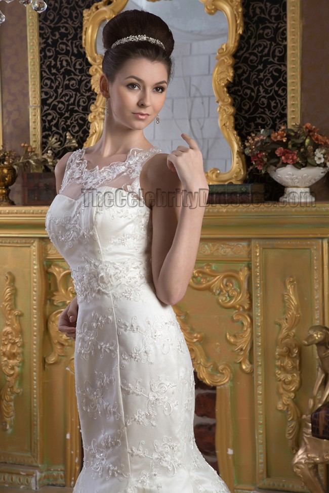 Elegant Trumpet/Mermaid Lace Sleeveless Wedding Dress Bridal Gown ...