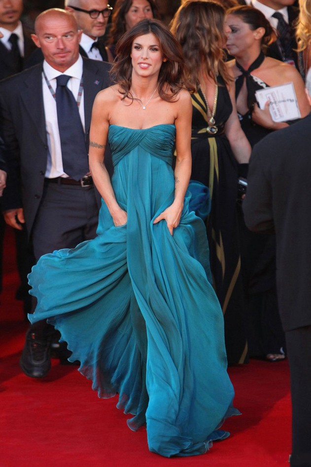 Celebrity Dresses Elisabetta Canalis Prom Gown Evening