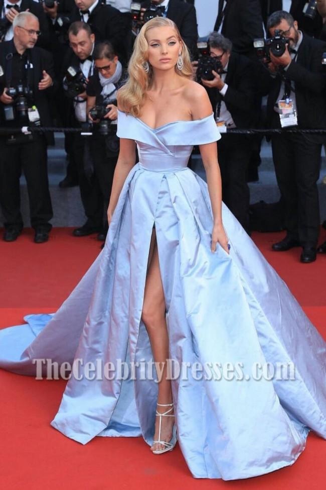 light sky blue gown