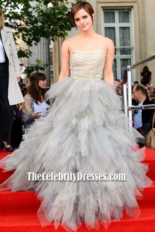 Emma Watson Harry Potter And The Deathly Hallows Part 2 Premiere Dress Emma Watson Tulle Prom Dress