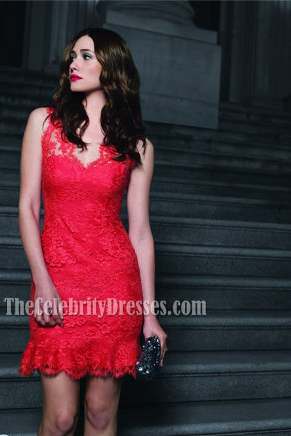 Emmy Rossum Red Lace Cocktail Dress Party Dresses 'The Fabric of ...
