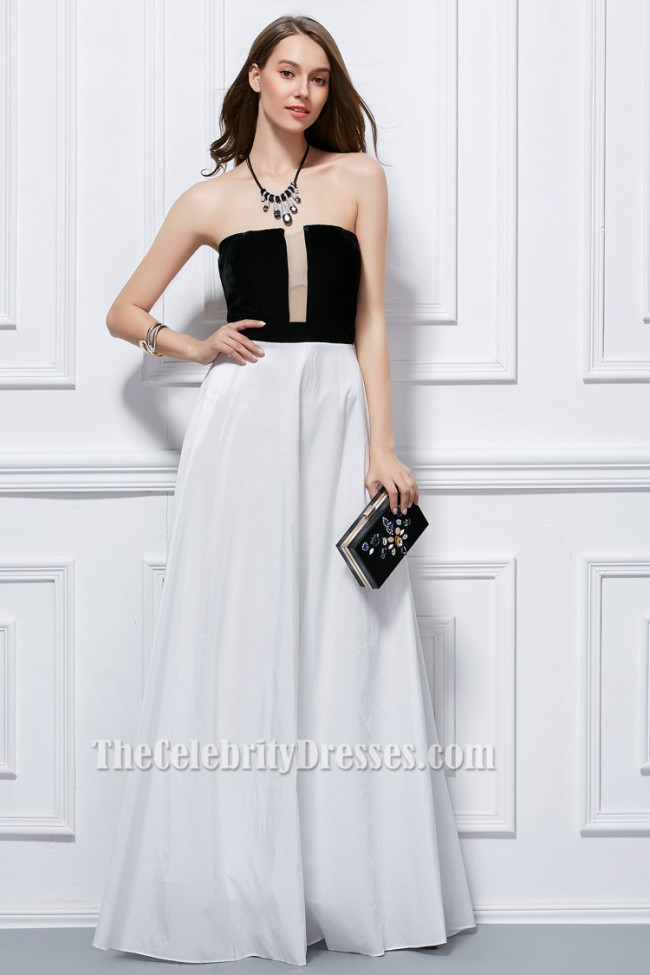 La Perla Lace Strapless Dress White. Guaranteed Authentic! La Perla White and black La Perla strapless mini dress with structured bodice, lace accent at front, pleated and bow accents at back and concealed hook-and-eye and zip closures at side. Item - Lap more.