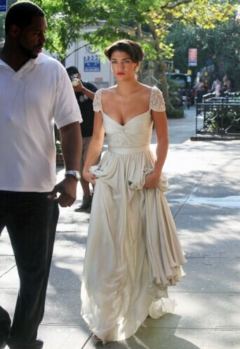 Vanessa Hudgens Long Evening Wedding Dress Gossip Girl