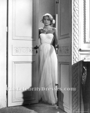 grace kelly white prom dress to catch a thief celebrity in movies dresses thecelebritydresses. Black Bedroom Furniture Sets. Home Design Ideas