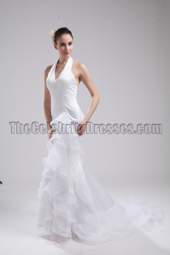 New style halter wedding dress bridal gown for Free wedding dress catalog