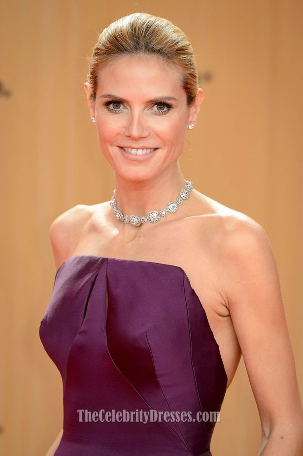 Heidi Klum Grape Formal Dress 2015 Bambi Awards Red Carpet ...