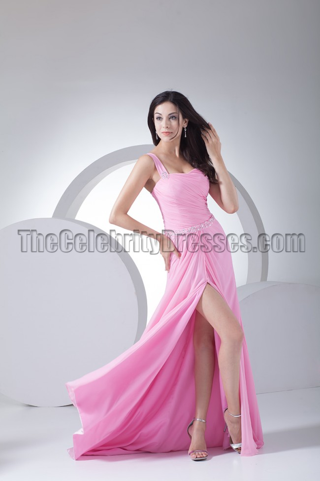 Gorgeous Hot Pink One Shoulder Prom Dress Evening Gown ...