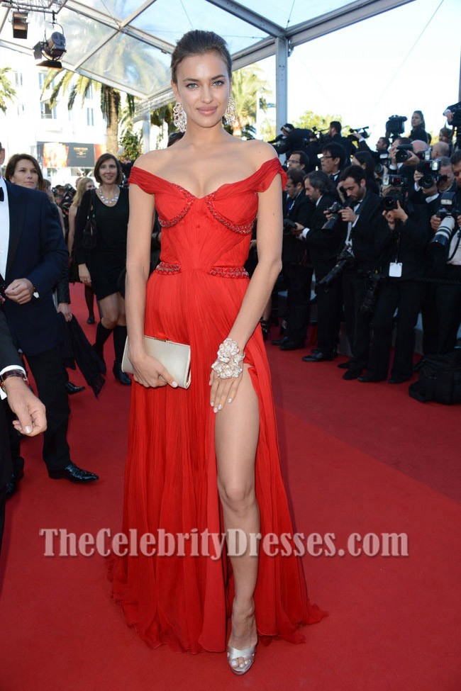 Irina Shayk Red Prom Evening Dress \'Killing\' Cannes premiere Red ...