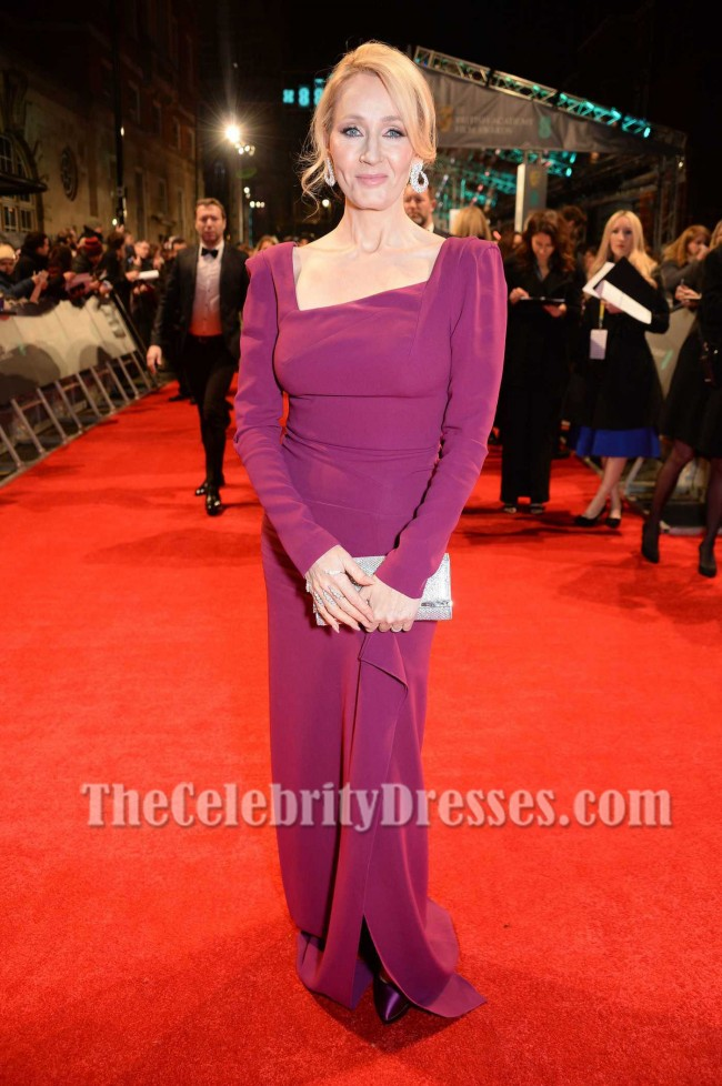 J K Rowling 2017 Bafta Red Carpet Evening Dress Square