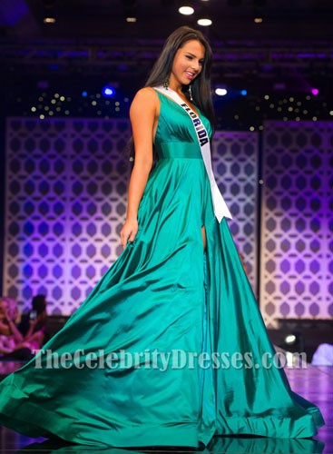 Jara Courson Y Backless A Line Pageant Dress Miss Florida Usa 2017