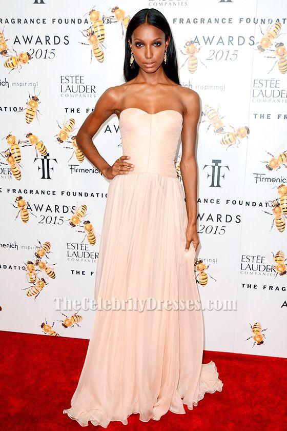 Jasmine Tookes Strapless Prom Dress 2015 Fragrance Foundation Awards ...