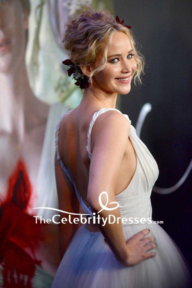 Jennifer Lawrence Backless Tulle Ball Gown Mother New