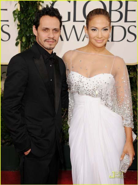3fe9daee99b5 Jennifer Lopez 2011 Golden Globe Awards White Formal Dress ...