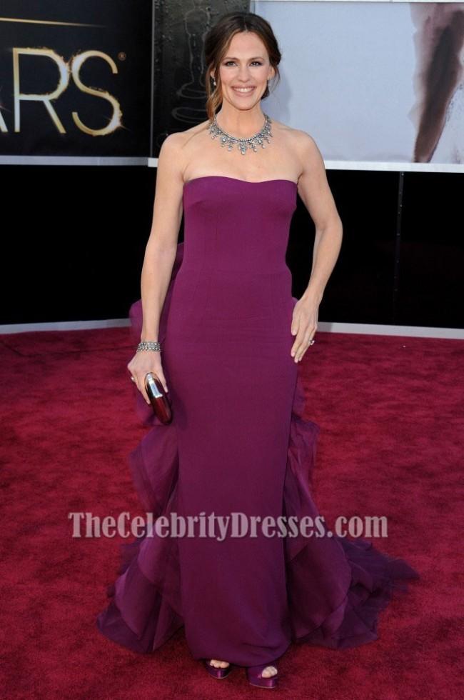 Jennifer Garner Purple Formal Dresses Oscars 2013 Red