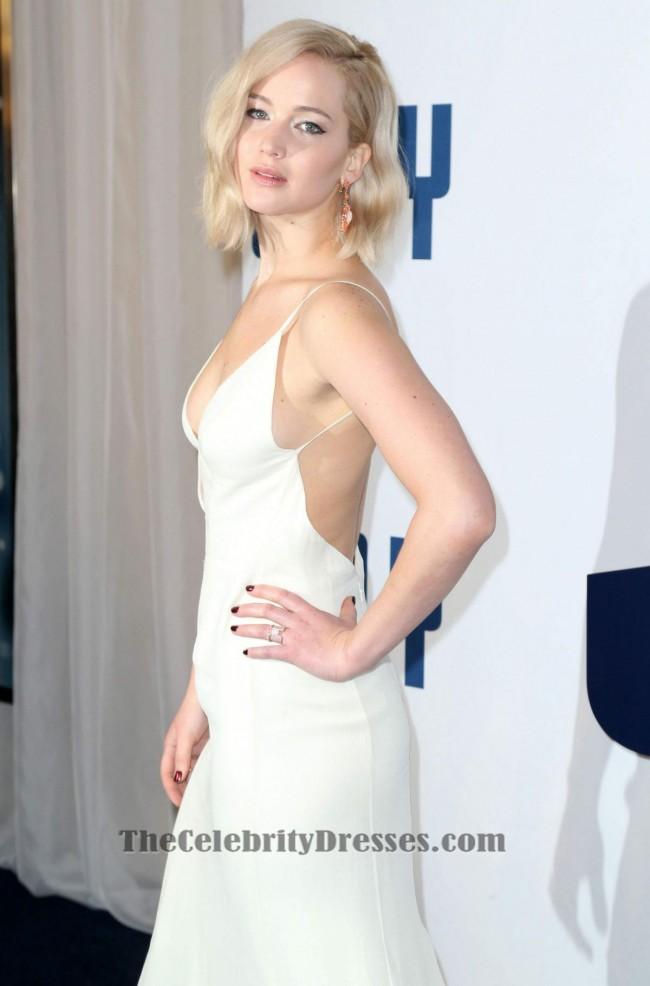 5ef5d8a6e3005 Jennifer Lawrence Sexy Backless Evening Dress  Joy  New York Premiere -  TheCelebrityDresses