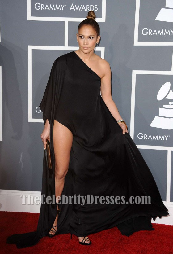 Jennifer lopez black evening dress grammy 2013 red carpet gown thecelebritydresses - Black and white red carpet dresses ...