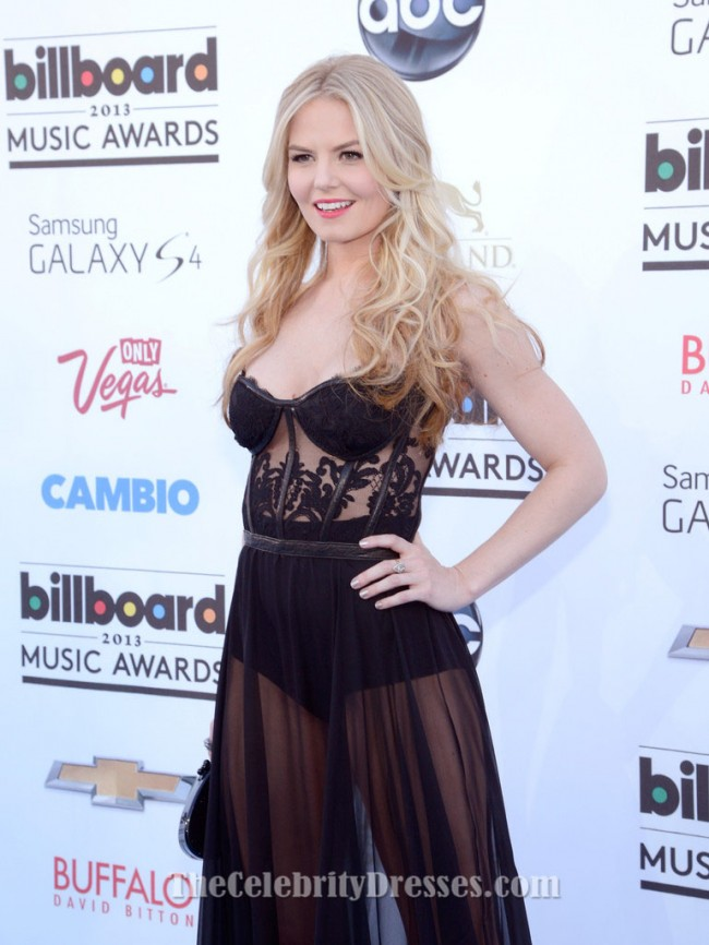 jennifer morrison black see through dress billboard music