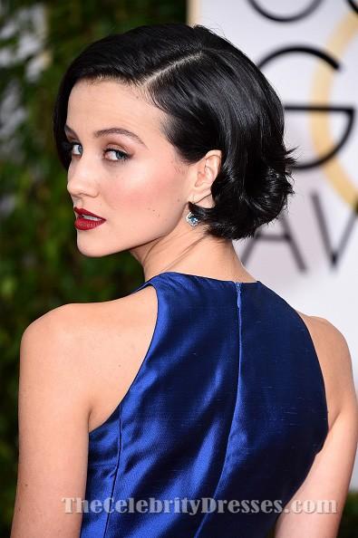 Julia Goldani Telles Royal Blue A Line Formal Dress Golden