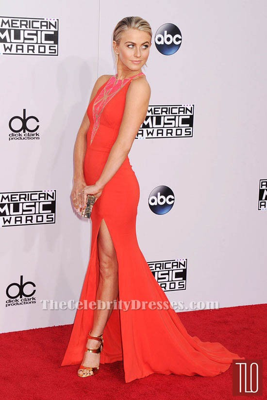julianne hough american music award 2014 red carpet