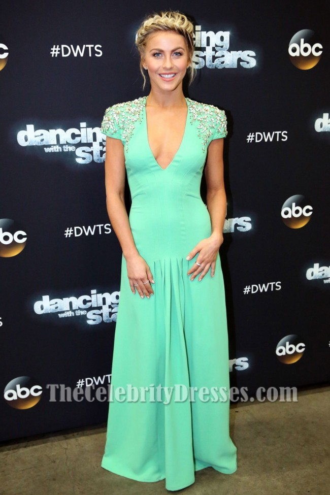 Julianne Hough Beaded Evening Dress season 19 of Dancing ...