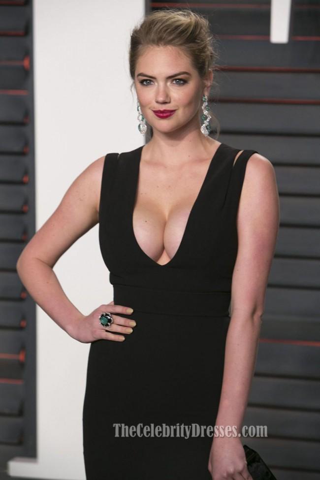 Kate Upton Vanity Fair Oscar Party 2016 Black Sheath