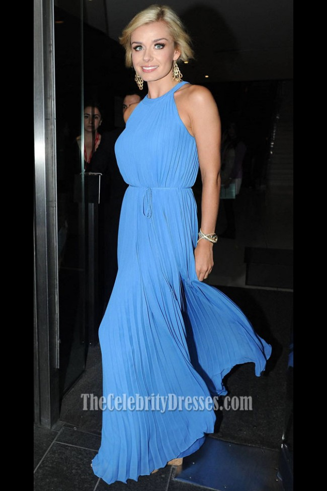 KATHERINE JENKINS Blue Chiffon Prom Dress Argiva Radio Awards 2012 TheCelebrityDresses