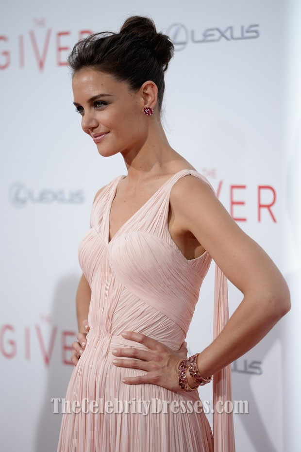 ba7c3c7a3a7 Actress Katie Holmes attends  The Giver  premiere at Ziegfeld Theater on  August 11