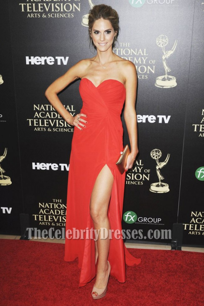 Kelly Kruger Red Prom Dress 41st Annual Daytime Emmy