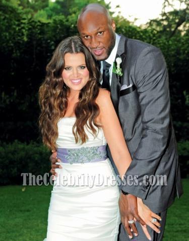 b77d1a9612038 Celebrity Wedding Khloe Kardashian and Lamar Odom Mermaid Wedding Dress  Bridal Gown