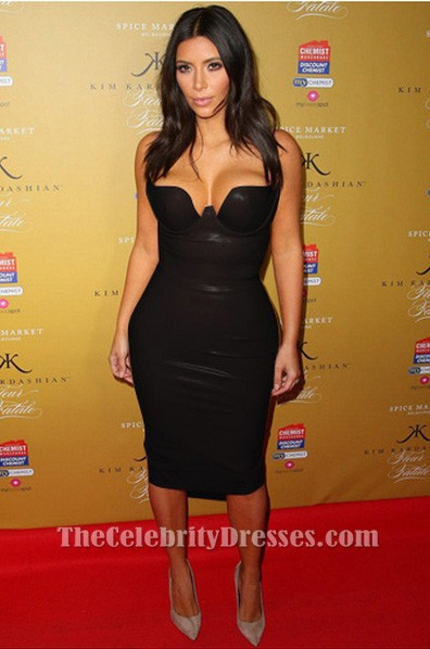 Kim Kardashian Sexy Club Dress Black Pu Cocktail Party