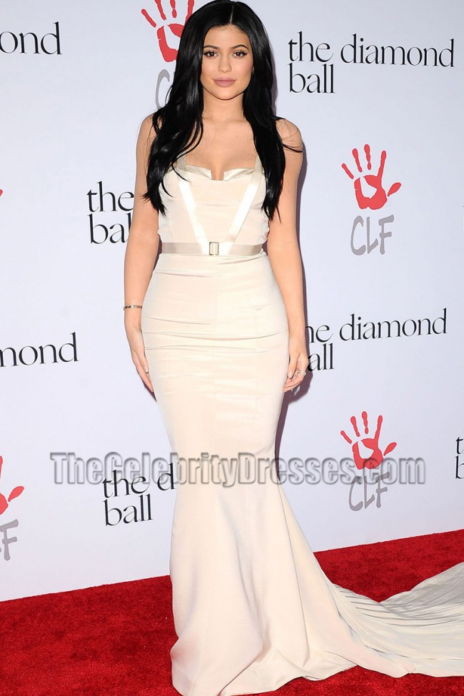 Kylie Jenner Elegant Mermaid Evening Formal Dress 2nd Annual Diamond ...