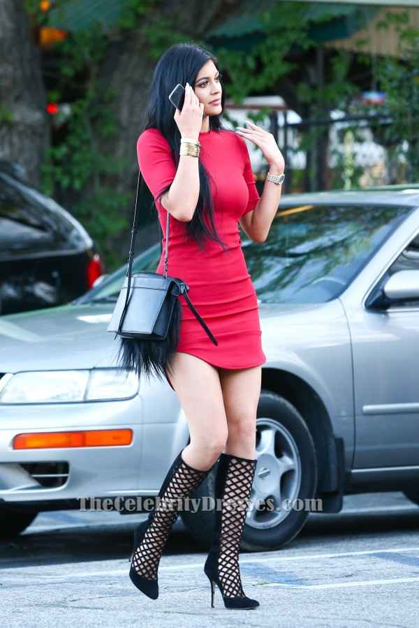 Kylie Jenner Short Mini Red Party Dress Homecoming Dresses