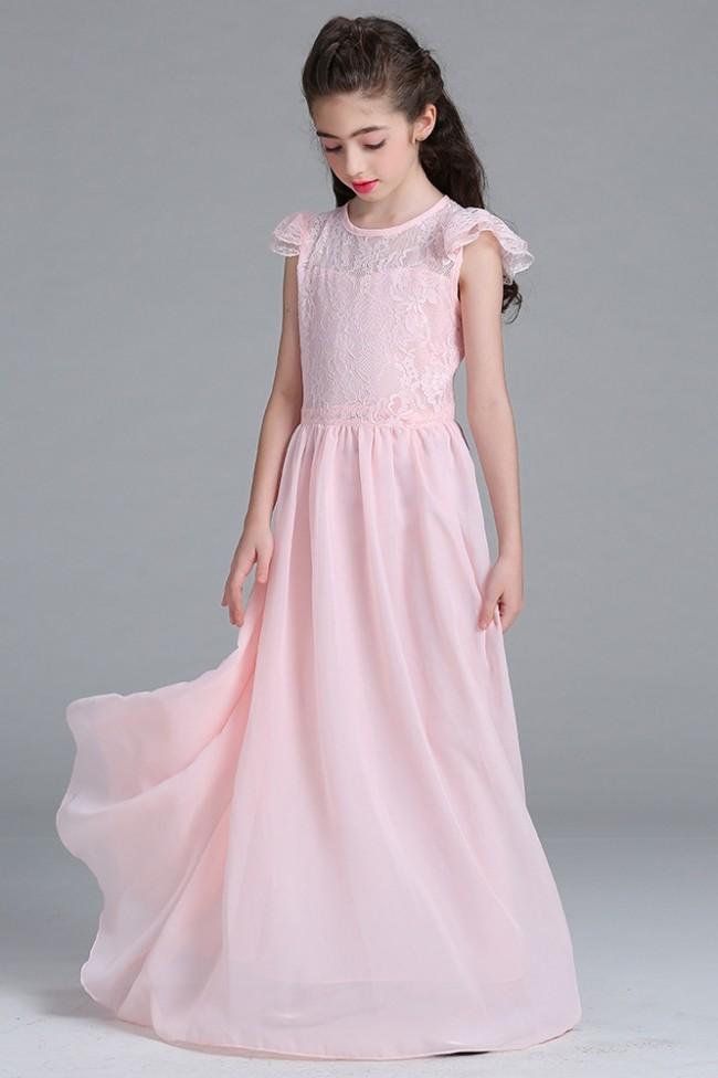 Lace Chiffon Junior Bridesmaid Dress