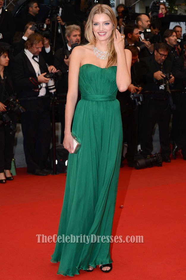 Lily donaldson hunter evening prom dress 2012 cannes film festival red carpet thecelebritydresses - Designer dresses red carpet ...