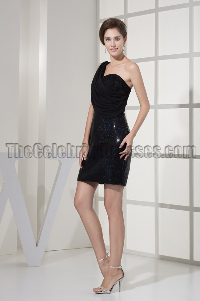 The one shoulder dress style is influenced by Grecian goddesses. You will look just as graceful and beautiful in one of our exclusive cheap one shoulder dress styles. One of the most popular looks for this style is a simply cut black dress with one shoulder and a rhinestone embellished waistline.